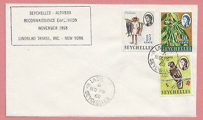 1968 Seychelles Tri Franked Cover Reconnaissance Expedition