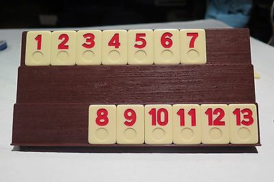 Rummikub Rummy-O Game Replacement Parts Set of 13 RED Tiles 1 to 13