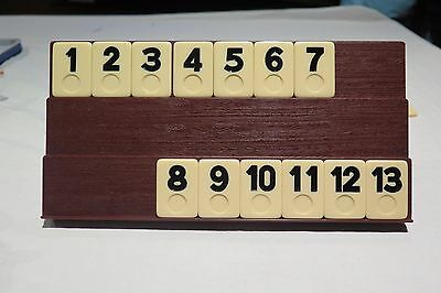 Rummikub Rummy-O Game Replacement Parts Set of 13 BLACK Tiles 1 to 13