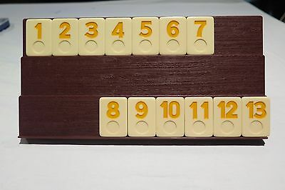 Rummikub Rummy-O Game Replacement Parts Set of 13 YELLOW Tiles 1 to 13