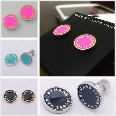 HOT NEW Marc by Marc Jacobs Sale Multiple colors Letters Disc Stud Earrings