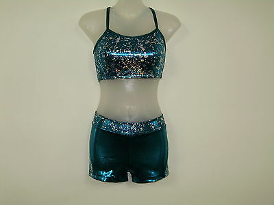 Gymnastics Crop Top set Girls Size  10 and 12