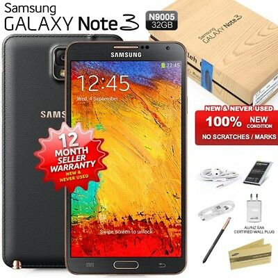 New Sealed Unlocked SAMSUNG Note 3 N9005 Rose Gold Black 4G Android Mobile Phone