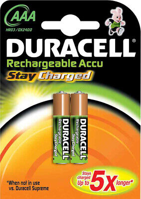 DUR203815 Blister de 2 Piles StayCharged Micro AAA