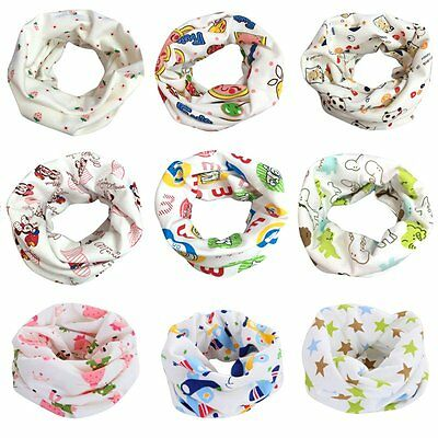 Baby Kids Cotton Neck Scarf Snood Boy Girl Toddler Warmer Cute Round Scarf Wrap