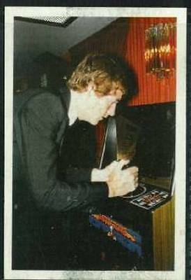 Scarce Trade Card of Steve Davis, Snooker 1986 Playing Arcade Game