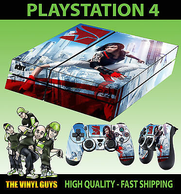 PS4 Skin Mirrors Edge Catalyst Faith Connors Sticker New + Pad decal Vinyl LAID