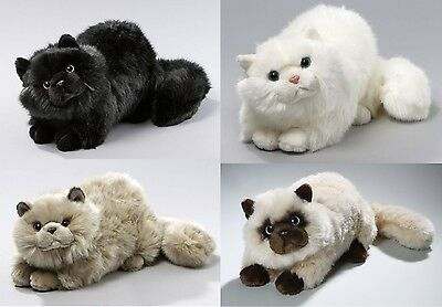 New Plush Cuddly Critters Persian Cat Soft Toy Kitten Teddy Assorted Colours