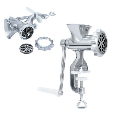 Aluminum Meat Grinder Steel Blade Manual Hand Crank Sausage Mincer Kitchen