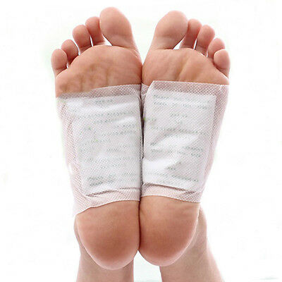 10Pcs/set Detox Foot Pads Organic Herbal Cleansing Patches With Adhesive Fit HOT