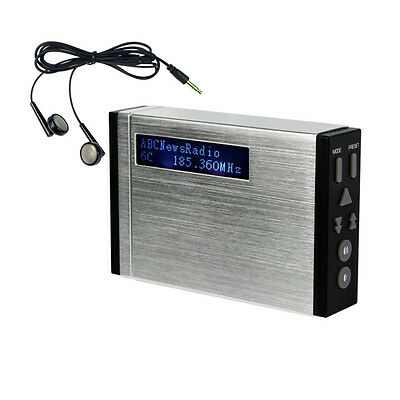 Digital Portable DAB/FM Radio Pocket Size DAB Receiver Stereo LCD +Earphone as