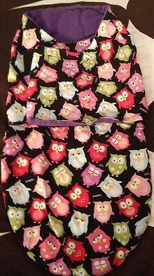 new arrival 43fff e6f76 BABY SWADDLE SLEEP Sack Owl Multicolored Handmade From Etsy