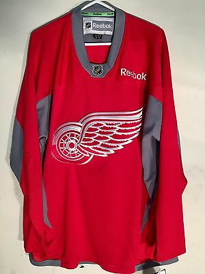 NHL Detroit Redwings Practice Ice Hockey Shirt Jersey
