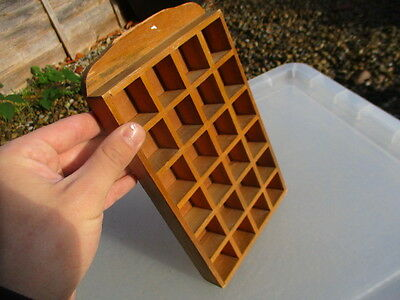 Wooden Thimble Display Small Collectibles Holder Rack Old