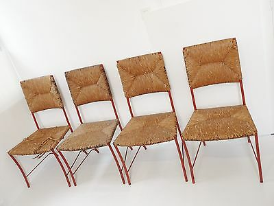 SUITE OF 4 CHAIRS 50's VINTAGE DESIGN MID CENTURY MODERN CHAIRS 1950