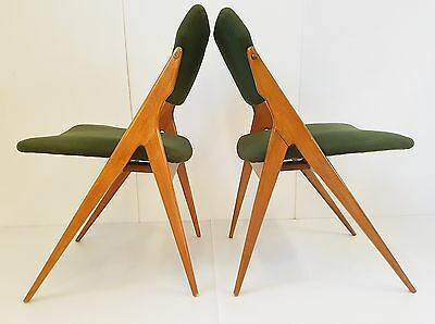 Gio Ponti : Pair Of Chairs 1950 Vintage Design Organic 50S Rockabilly Chairs