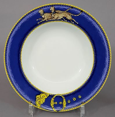 Teller Porcelaine de Paris Limoges, Decor Chasses Royales, Leoparden Motiv
