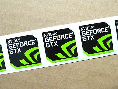 3x NVIDIA GEFORCE GTX Sticker 17.5x17.5mm Case Badge Logo USA Seller Free Ship!