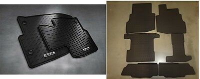 2016 2017 Mazda CX-9 Front and Rear All Weather Rubber Floor Mats (set of 8)