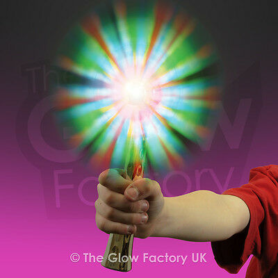 Light Up Rainbow Windmill Flashing LED Fan Wand