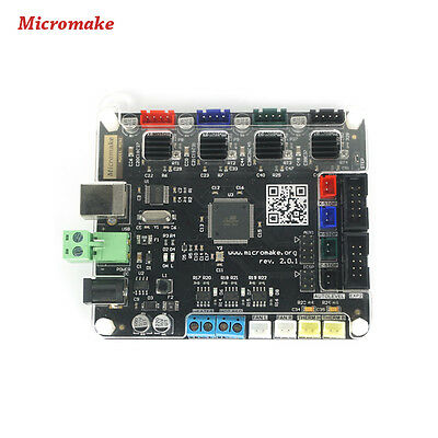 Micromake V2.1.4 Control Board 2 Finished Main Motherboard 3D Printer Parts 2016