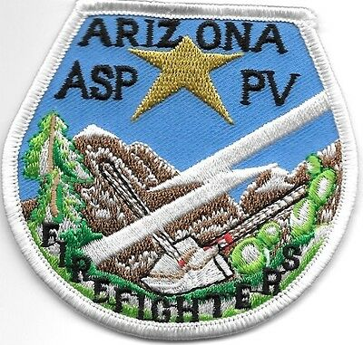 """*NEW*  Arizona State Prisons-Firefighters (3"""" x 3"""") shoulder police patch (fire)"""