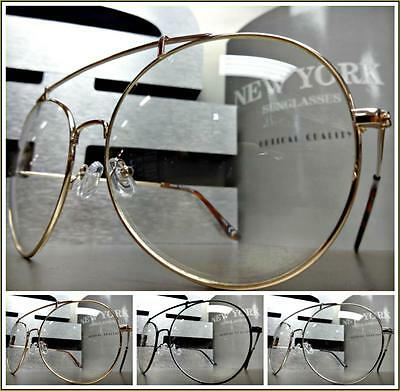 OVERSIZED CLASSIC VINTAGE RETRO Style Clear Lens EYE GLASSES Huge Fashion Frame