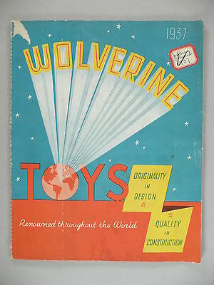 Wolverine Toy CATALOG - 1937 ~~ toys