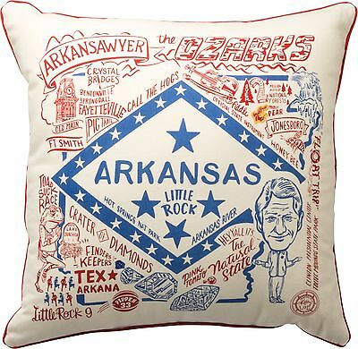 SUPER ARKANSAS Primitives by Kathy State Series Pillow