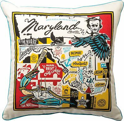SUPER MARYLAND Primitives by Kathy State Series Pillow