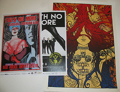 FAITH NO MORE - Gogol Bordello 2015 Red Rocks (3) Poster / Handbill Collection