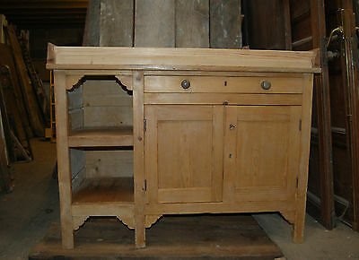 A FANTASTIC BABY CHANGING UNIT MADE FROM A VICTORIAN PINE CUPBOARD ref 501