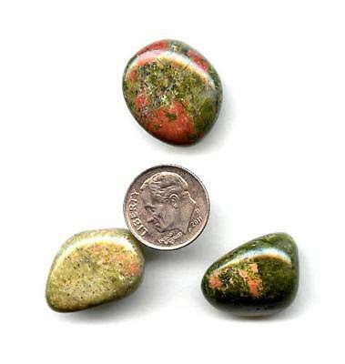 Unakite Tumbled Gemstones Lot #2