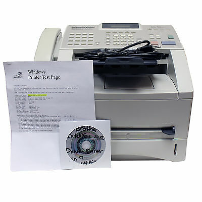 Brother IntelliFax 4100e Super G3 Laser Fax/Copier 8MB 15 CPM 600x600 DPI