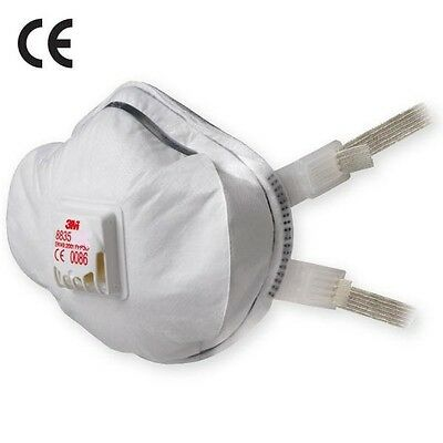 3M Dust Masks Respirator Ffp3 Valved Safety Face Work Disposable Fold Flat P2