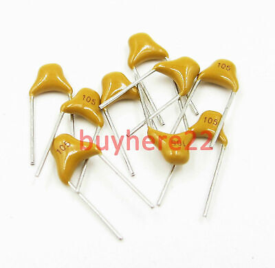 1uF 1000nf 105 50V Monolithic Ceramic Chip Capacitor 5.08mm Pitch NEW UK Seller
