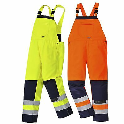 Portwest Girona Hi-Vis Bib & Brace Workwear Trouser Pants Coverall Overalls TX72