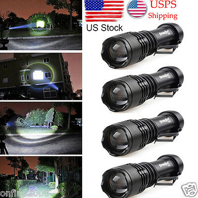 5000LM Q5 AA/14500 3 Modes ZOOMABLE LED Flashlight Torch Lamp Light