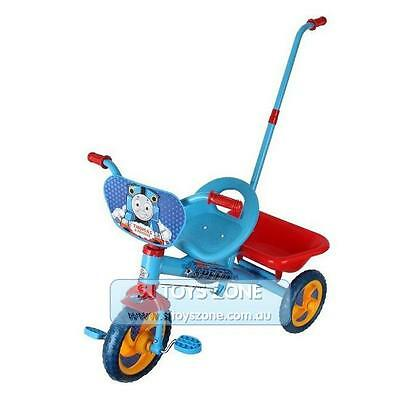 Thomas Friends Tricycle Kids Trike with Parent Handle Blue Outdoor & Indoor Ride