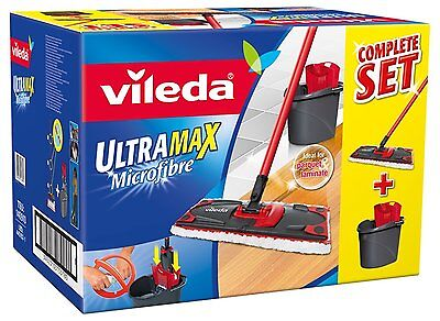 Vileda Complete Cleaning Ultramax Flat Mop and Bucket Set  FAST FREE DELIVERY