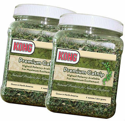 Kong PREMIUM ALL NATURAL CATNIP for Cats & Kittens 2 oz (CN2) 2 PACK