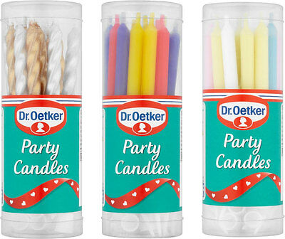 Dr. Oetker Party Candles (18) FREE UK DELIVERY