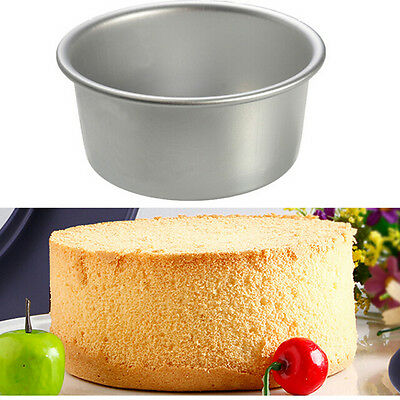 New 4/5/6/8/9'' Aluminum Alloy Round Cake Baking Mould Pan Bakeware DIY Tool QW