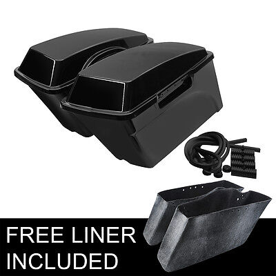 Hard Saddle bags Saddlebags For Harley Electra Glide Road King Softail Dyna New