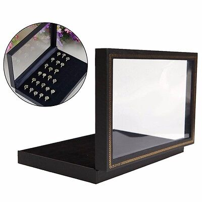 36 Jewellery Ring Display Storage Box Tray Show Case Organiser Earring Holder