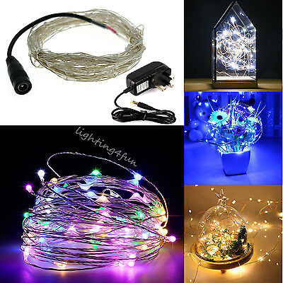 PlugIn 10-20-30M Waterproof Copper Micro Wire LED Fairy String Lights In/Outdoor