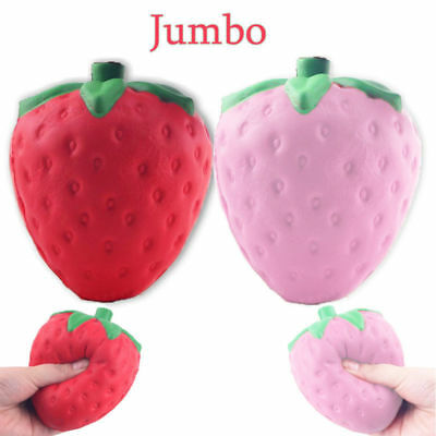 Hot Sale 11.5CM Jumbo Colossal Squishy Strawberry Cream Scented Slow Rising Toy