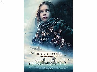 "2016 STAR WARS CELEBRATION REPRODUCTION, ROGUE ONE MOVIE PROMO POSTER At 12""x18"""