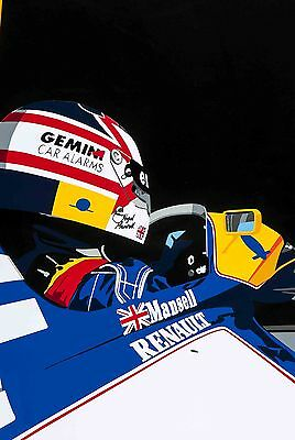 Nigel Mansell - 30x20 Inch Canvas Formula One Willaims Picture F1 Print