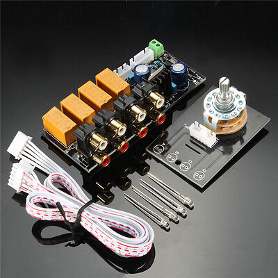 Audio Input Signal Selector Relay Board/Signal Switching Amplifier Board + RCA C